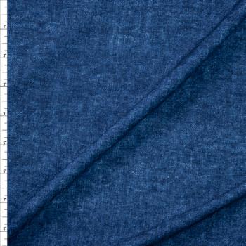 Dark Blue Denim Look Cotton Jersey Knit Fabric By The Yard