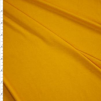 Mustard Midweight Stretch Rayon Jersey Fabric By The Yard