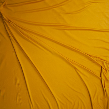 Mustard Midweight Stretch Rayon Jersey Fabric By The Yard - Wide shot
