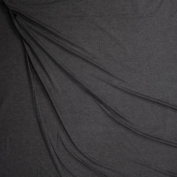 Charcoal Midweight Stretch Rayon Jersey Fabric By The Yard - Wide shot