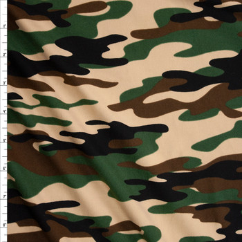 Classic Camo Double Brushed Poly/Spandex Knit Fabric By The Yard