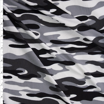 Granite Camo Double Brushed Poly/Spandex Knit Fabric By The Yard