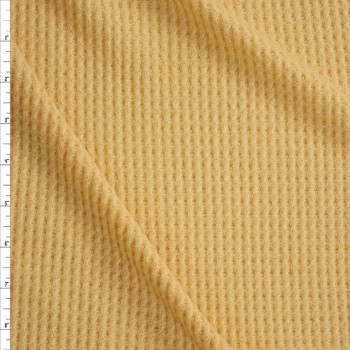 Soft Butter Yellow Brushed Soft Waffle Fabric By The Yard