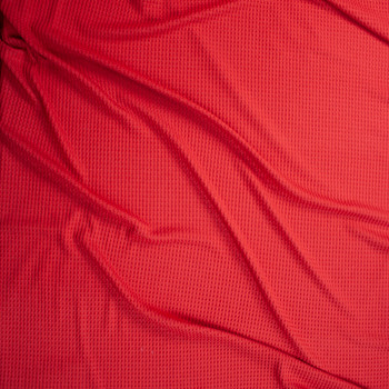 Firebrick Red Soft Waffle Knit Fabric By The Yard - Wide shot