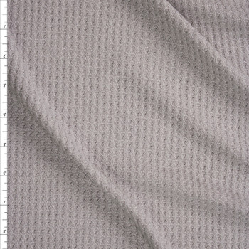 Silver Grey Soft Waffle Knit Fabric By The Yard
