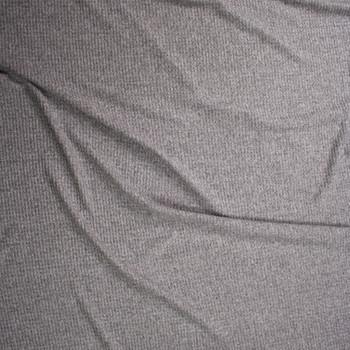 Medium Grey Heather Brushed Soft Waffle Fabric By The Yard - Wide shot