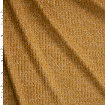 Camel Heather Brushed Soft Waffle Fabric By The Yard