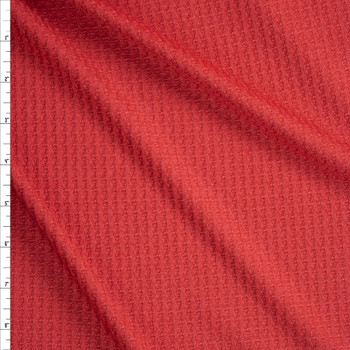 Dusty Red Soft Waffle Knit Fabric By The Yard