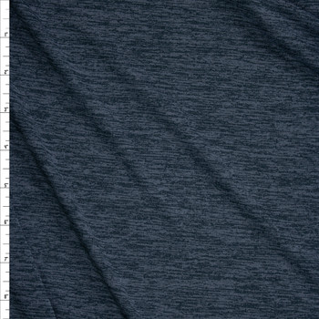 Charcoal Space Dye Moisture Wicking Designer Athletic Knit Fabric By The Yard