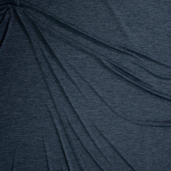 Charcoal Space Dye Moisture Wicking Designer Athletic Knit Fabric By The Yard - Wide shot