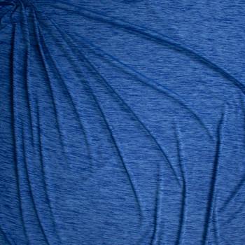 Malibu Blue Space Dye Moisture Wicking Designer Athletic Knit Fabric By The Yard - Wide shot