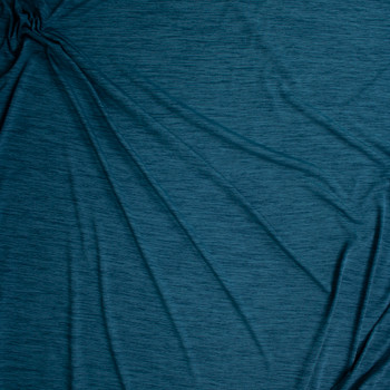 Teal Space Dye Moisture Wicking Designer Athletic Knit Fabric By The Yard - Wide shot
