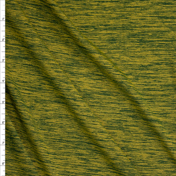 Grassy Forest Space Dye Moisture Wicking Designer Athletic Knit Fabric By The Yard