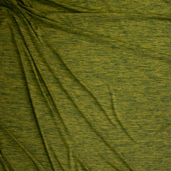 Grassy Forest Space Dye Moisture Wicking Designer Athletic Knit Fabric By The Yard - Wide shot
