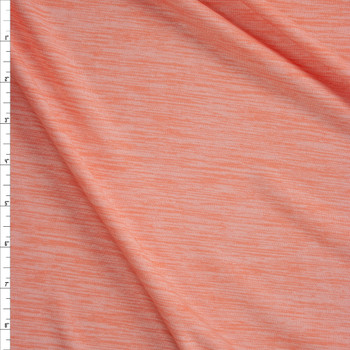 Peach Space Dye Moisture Wicking Designer Athletic Knit Fabric By The Yard