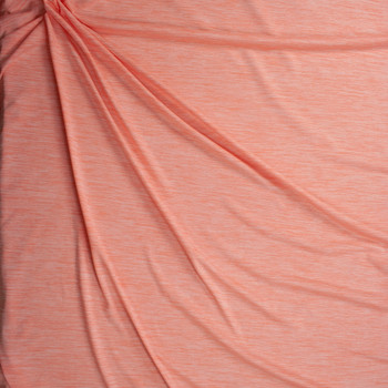 Peach Space Dye Moisture Wicking Designer Athletic Knit Fabric By The Yard - Wide shot