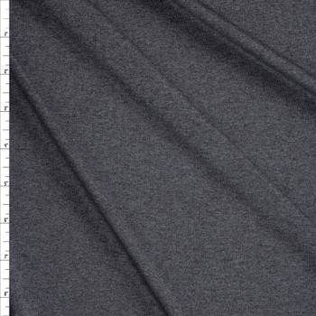 Charcoal Heather Moisture Wicking Designer Athletic Knit Fabric By The Yard
