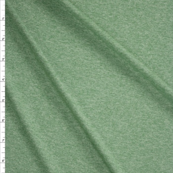 Sage Heather Moisture Wicking Designer Athletic Knit Fabric By The Yard