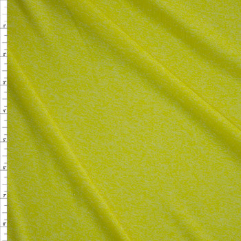 Mojito Heather Moisture Wicking Designer Athletic Knit Fabric By The Yard