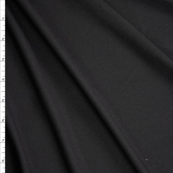 Black Moisture Wicking Designer Athletic Pique Knit Fabric By The Yard