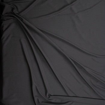 Black Moisture Wicking Designer Athletic Pique Knit Fabric By The Yard - Wide shot