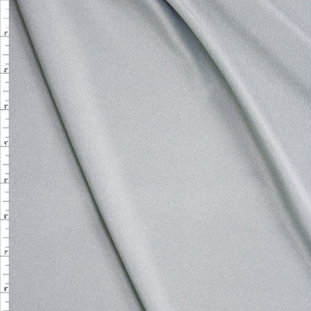 Light Silver Heather Moisture Wicking Designer Athletic Knit Fabric By The Yard