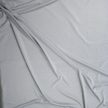 Light Silver Heather Moisture Wicking Designer Athletic Knit Fabric By The Yard - Wide shot
