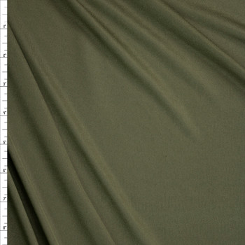 Olive Moisture Wicking Designer Athletic Knit Fabric By The Yard