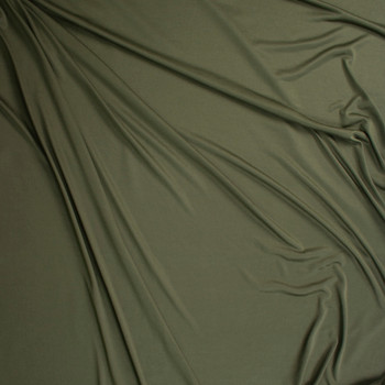 Olive Moisture Wicking Designer Athletic Knit Fabric By The Yard - Wide shot