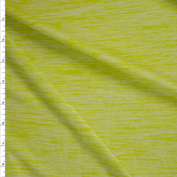 Lemon Lime Space Dye Moisture Wicking Designer Athletic Knit Fabric By The Yard