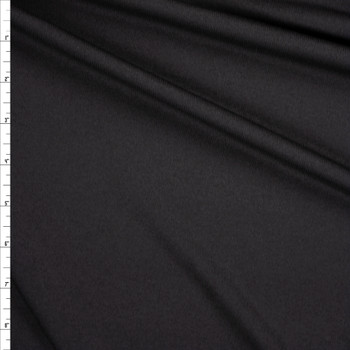 Black Lightweight Moisture Wicking Designer Athletic Knit Fabric By The Yard