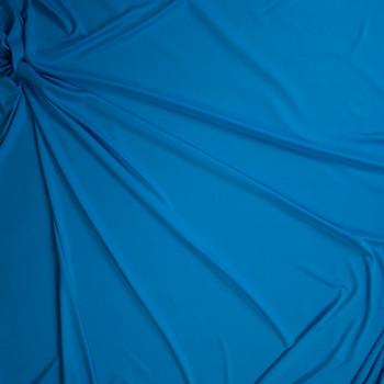 Turquoise Moisture Wicking Designer Athletic Knit Fabric By The Yard - Wide shot
