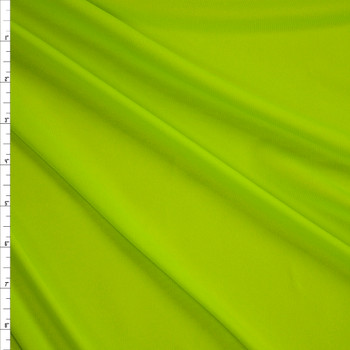 Chartreuse Moisture Wicking Designer Athletic Knit Fabric By The Yard
