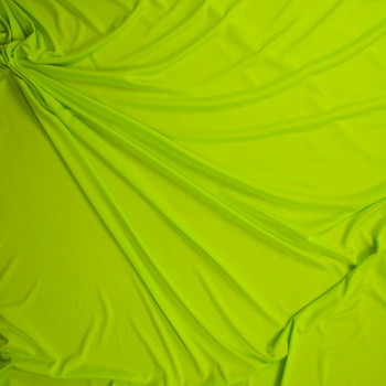 Chartreuse Moisture Wicking Designer Athletic Knit Fabric By The Yard - Wide shot