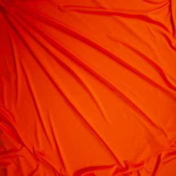 Orange Moisture Wicking Designer Athletic Knit Fabric By The Yard - Wide shot