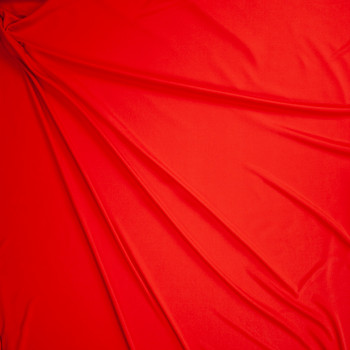 Red Moisture Wicking Designer Athletic Knit Fabric By The Yard - Wide shot