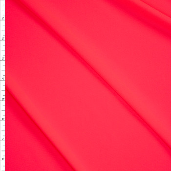 Neon Pink Moisture Wicking Designer Athletic Knit Fabric By The Yard