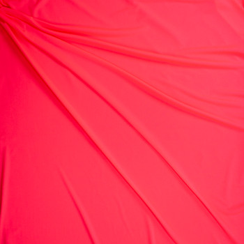 Neon Pink Moisture Wicking Designer Athletic Knit Fabric By The Yard - Wide shot