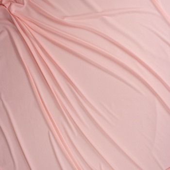 Blush Moisture Wicking Designer Athletic Knit Fabric By The Yard - Wide shot