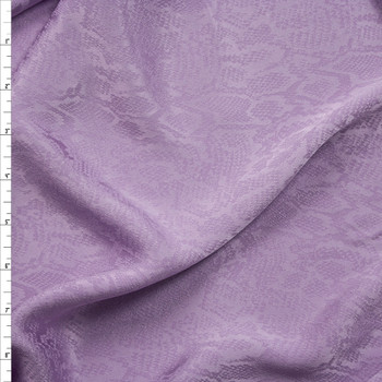 Lavender Snakeskin Rayon Jaquard Fabric By The Yard