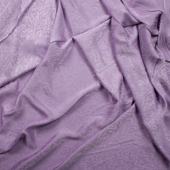 Lavender Snakeskin Rayon Jaquard Fabric By The Yard - Wide shot