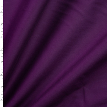 Plum Stretch Cotton Broadcloth Fabric By The Yard