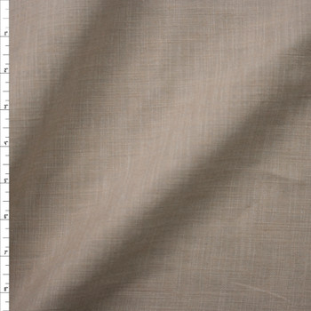 Taupe Heavyweight Linen Fabric By The Yard