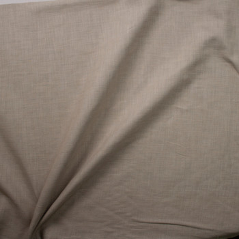 Taupe Heavyweight Linen Fabric By The Yard - Wide shot