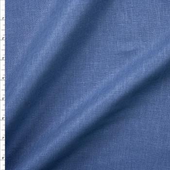 Denim Blue Lightweight Linen Fabric By The Yard