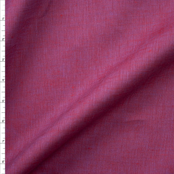 Wine Purple Two Tone Linen Fabric By The Yard