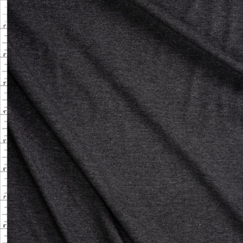 Charcoal Heather Light Midweight Stretch Rayon Jersey Knit Fabric By The Yard