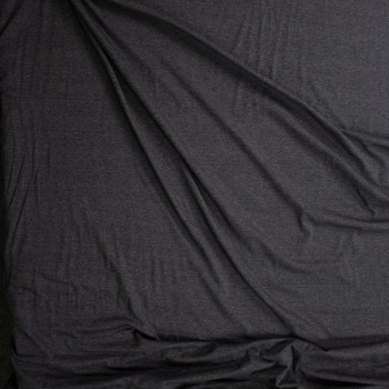 Charcoal Heather Light Midweight Stretch Rayon Jersey Knit Fabric By The Yard - Wide shot
