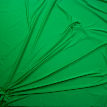 Bright Green Stretch Moisture Wicking Athletic Knit Fabric By The Yard - Wide shot