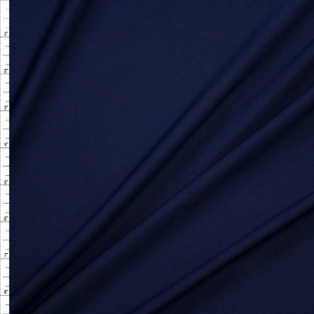 Midweight Navy Stretch Moisture Wicking Athletic Knit Fabric By The Yard